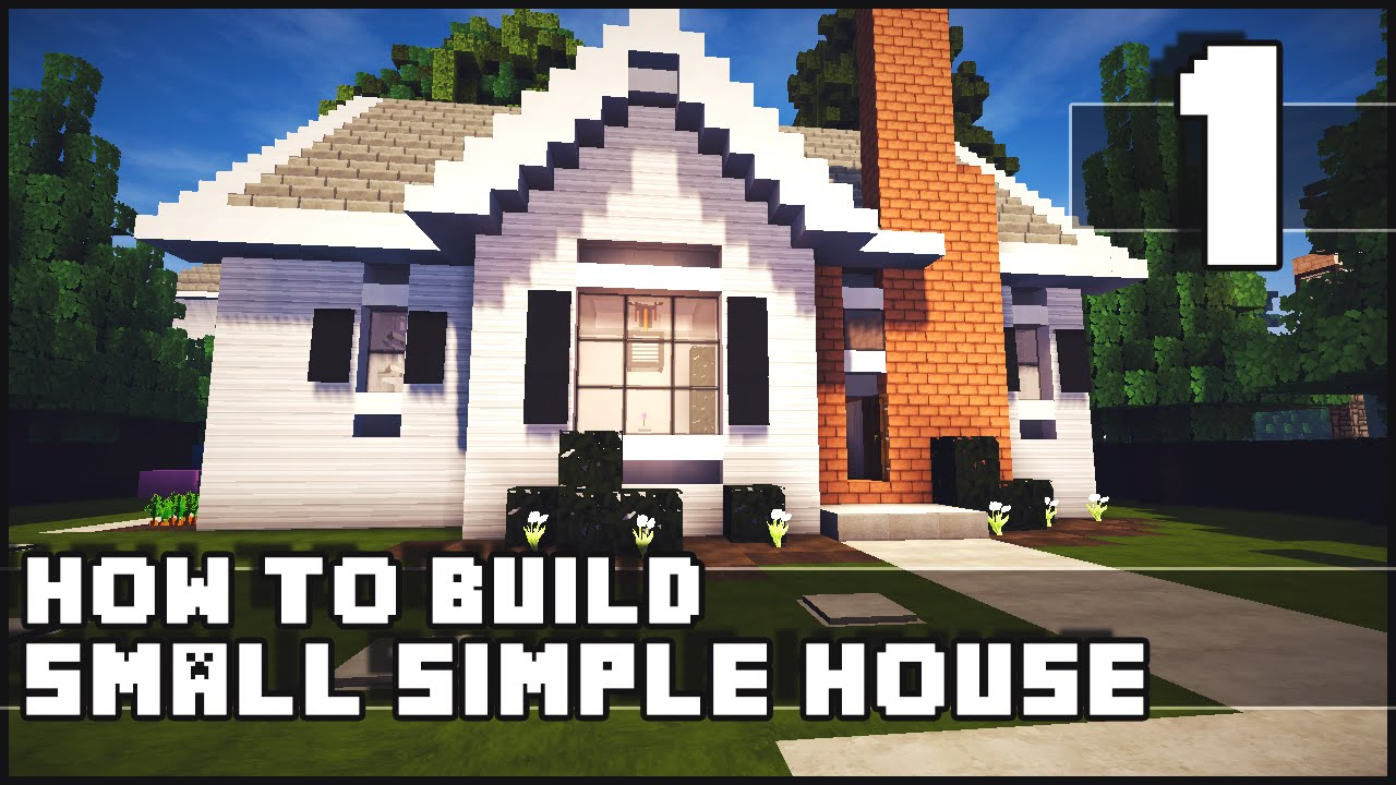 Minecraft house how to build simple small house part for How to build a floor for a house