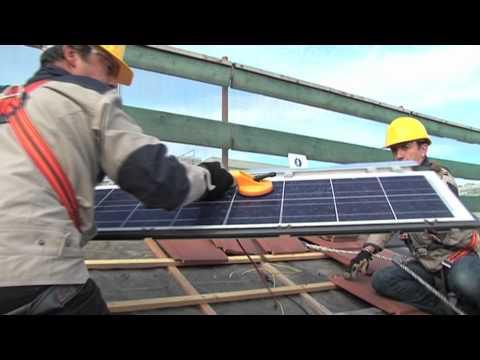 Formation photovoltaïque : centre de formation d'apprentis (CFA) Delépine 75011