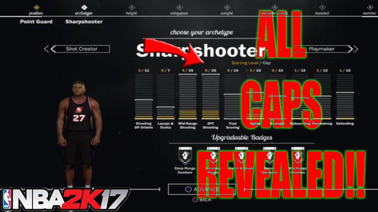 ALL ATTRIBUTE CAPS REVEALED NBA 2K17 ALL PLAYER BUILDS LEAKED!