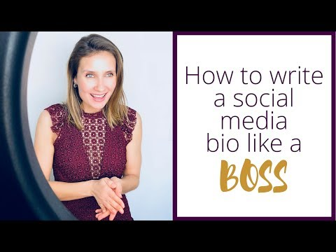 How to write a social media bio that attracts clients.
