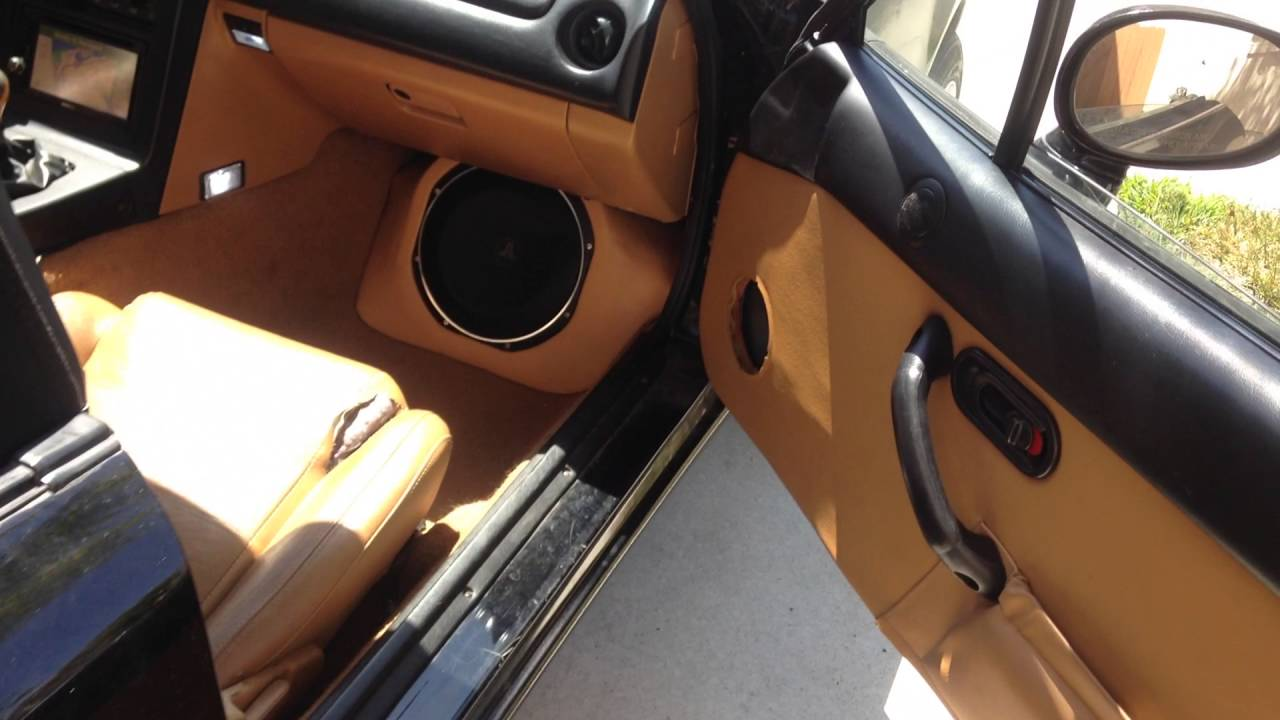 Mazda Miata Custom Subwoofer Enclosure Youtube