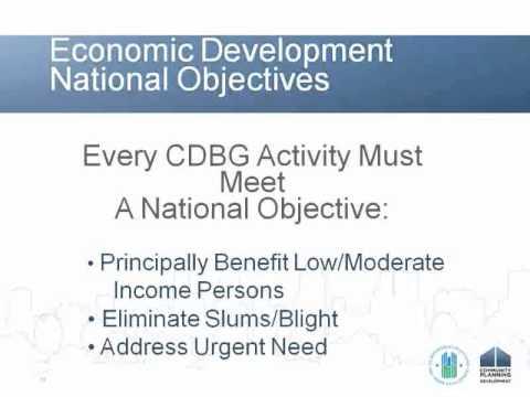 CDBG Webinar: CDBG Economic Development for Entitlement Communities - 3/2/11
