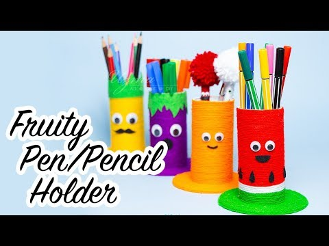 DIY Pencil Holder For Desk | How to Make a Pencil Holder with Toilet Paper Rolls
