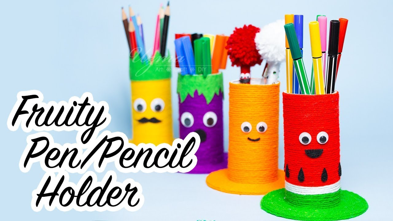 Homemade Pencil Holders Diy Pencil Holder For Desk How To Make A Pencil Holder With Toilet Paper Rolls
