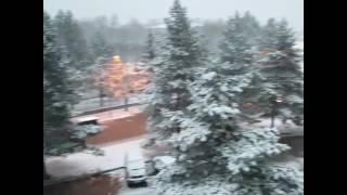Первый снег выпал в Лучегорске(Виде первого снега, опубликованное в Instagram пользователем annyswomp., 2016-10-20T05:12:05.000Z)