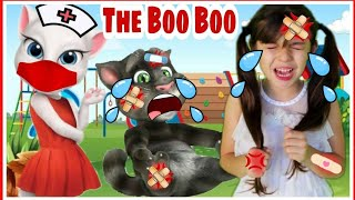 The Boo Boo Song Com Talking Tom| Nursery Rhymes and Kids Song