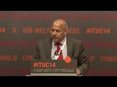 Mohammad Taj   TUC   3rd ITUC World Congress