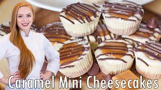 Salted Caramel Mini Cheesecakes