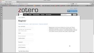Zotero Tutorial (Deutsch): Kurze Einführung (Anlegen eines Accounts)