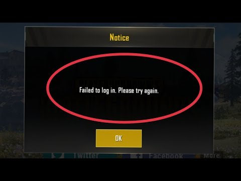 Pubg Mobile Fix Failed To Log In Please Try Again Problem Solve