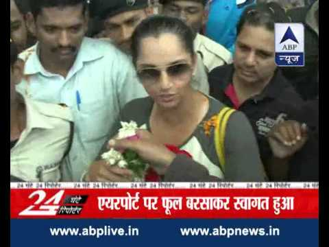 Sania Mirza Receives Arousing Welcome At Hyderabad Airport L Dedicates Victory To Telangana