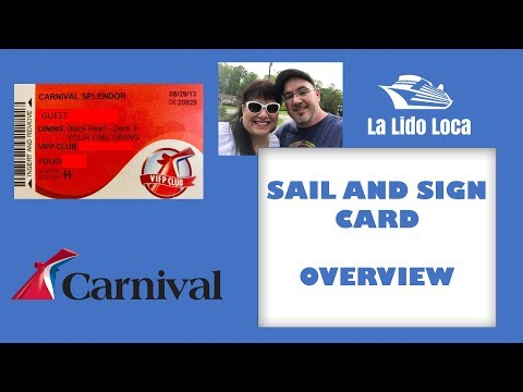 Carnival Cruise Sail and Sign Card - Overview