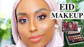 ROSE GOLD EID MAKEUP LOOK! | Huda Beauty Rose Gold Remastered Palette | Aysha Abdul