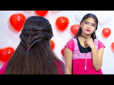 v-heart-shape-hairstyles-for-girls-2020-||-beautiful-braid-hairstyle-||-oval-face-shape-hairstyle