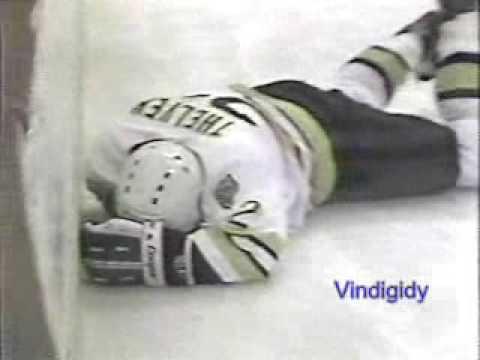 *Foligno elbows Thelvin 4/12/88