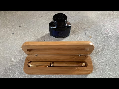 UNBOXING + ASMR + Ink Refill | The Bamboo Company Fountain Pen