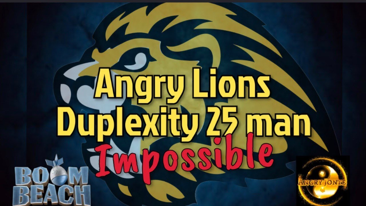 Download BOOM BEACH | Angry Lions | 25 man Duplexity