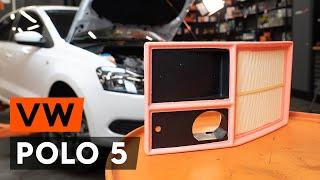Hoe een luchtfilter vervangen op een VW POLO 5 Sedan [AUTODOC-TUTORIAL]