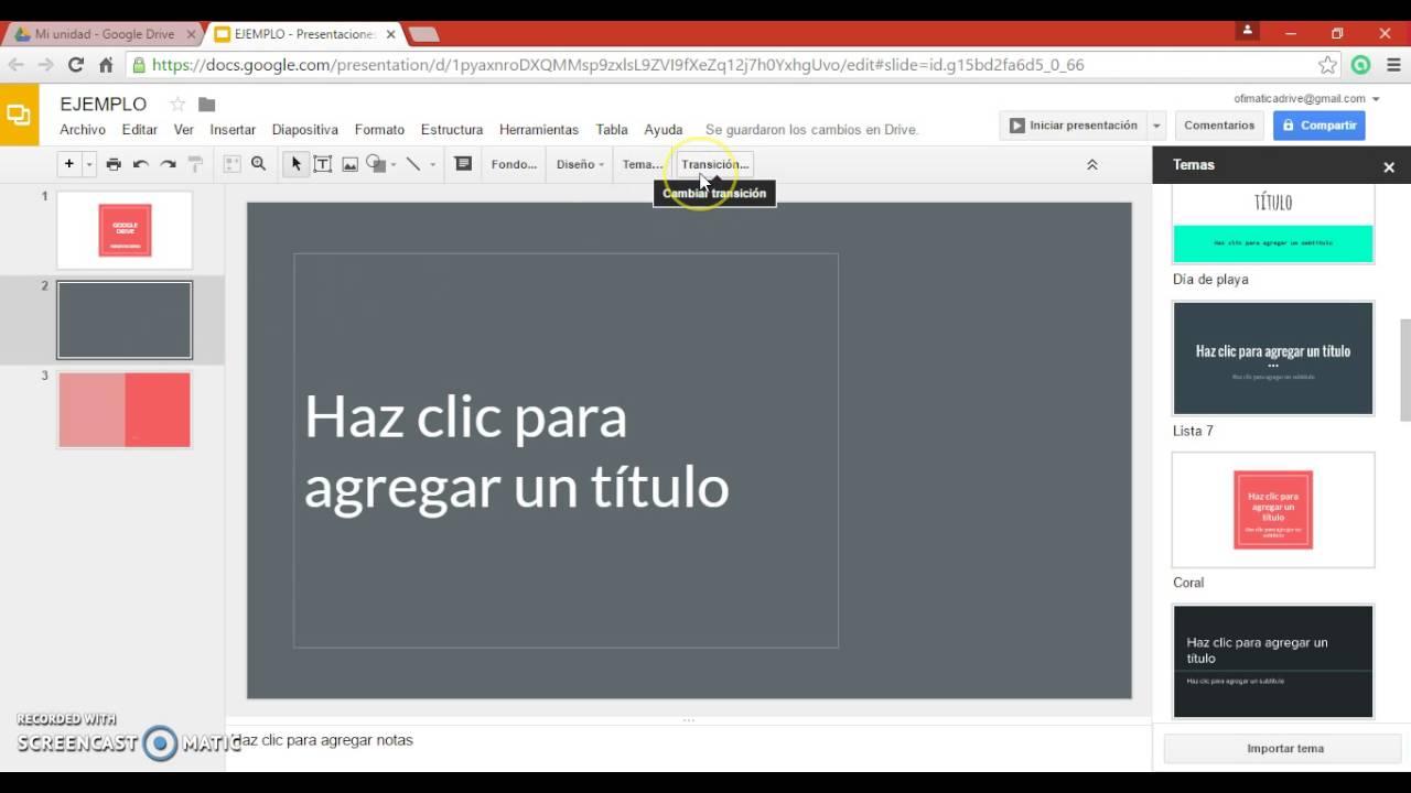 cómo crear presentaciones en google drive youtube