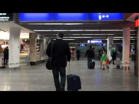 How to Connect at Frankfurt Airport from Terminal 1B Bus to Gate Z69 - Walkthrough