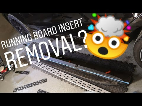 How To Remove Aluminium Insert Mercedes ML W166 Running board/Side Steps for cleaning