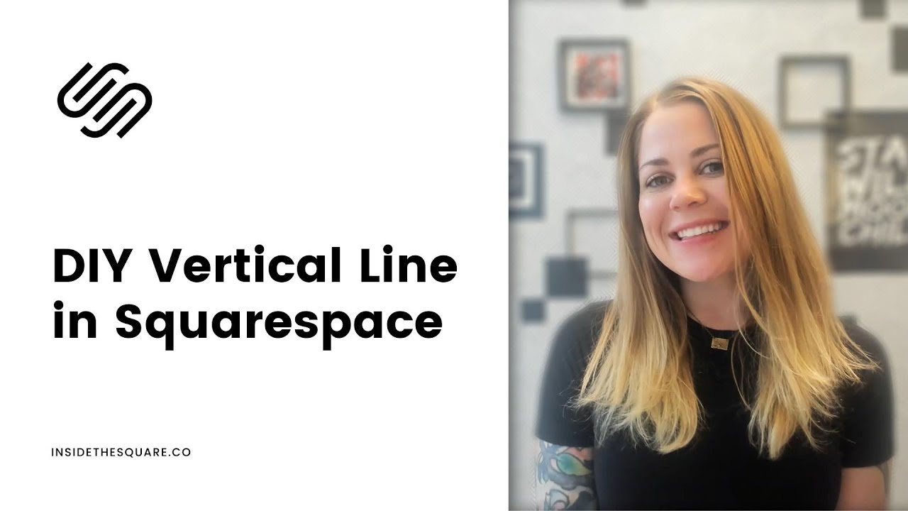 How to create a vertical line in Squarespace // Squarespace CSS Tutorial