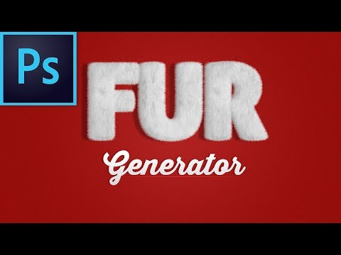 Fur Generator Photoshop Action Tutorial (How to use) - YouTube