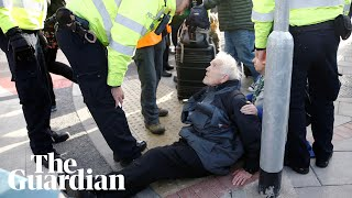 Extinction Rebellion protester, 83, arrested at London City airport
