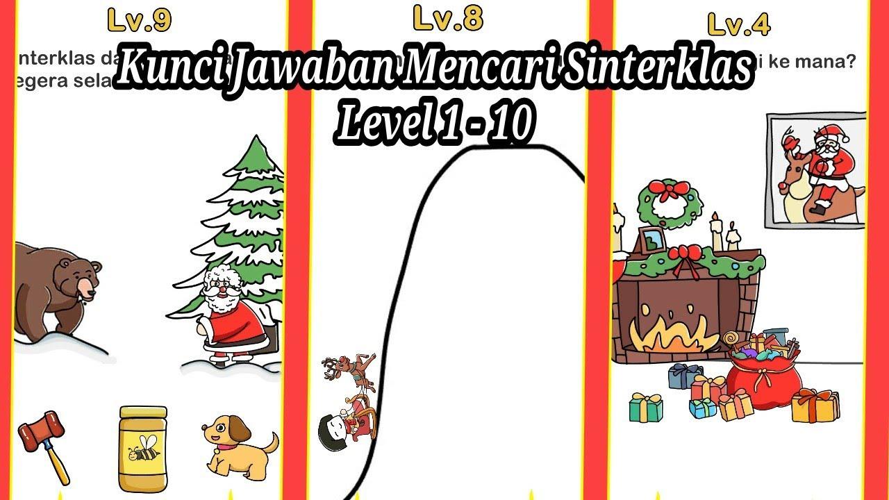 Kunci Jawaban Mencari Sinterklas Level 1 10 Brain Out Youtube