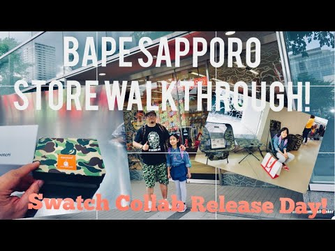 BAPE Store Sapporo - June 2019 Walkthrough Shopping Vlog & Inside Look! Swatch Collab Release Day!!