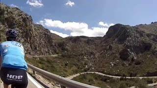 75 minute Indoor Cycling Uphill Workout Turbo Training Sa Calobra Mallorca Full HD