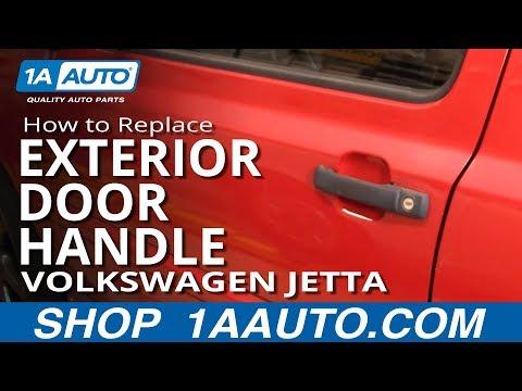 How To Replace Exterior Door Handle 93 99 Volkswagen Jetta Youtube