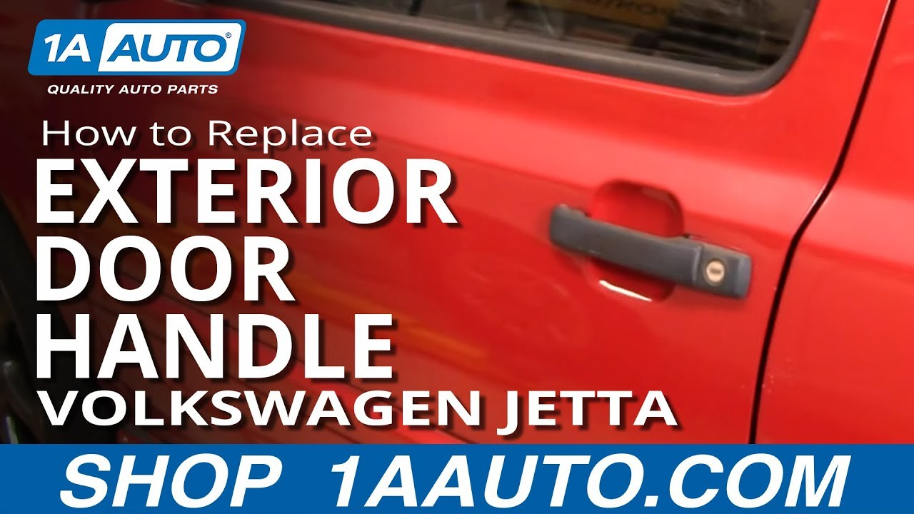 how to replace exterior door handle 93 99 volkswagen jetta [ 1280 x 720 Pixel ]