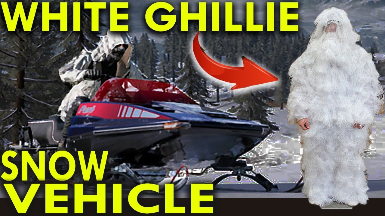 White Ghillie Suit Snow Vehicle Gameplay - Pubg Snow Map