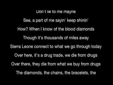 Kanye West - Diamond From Sierra Leone (Lyrics)