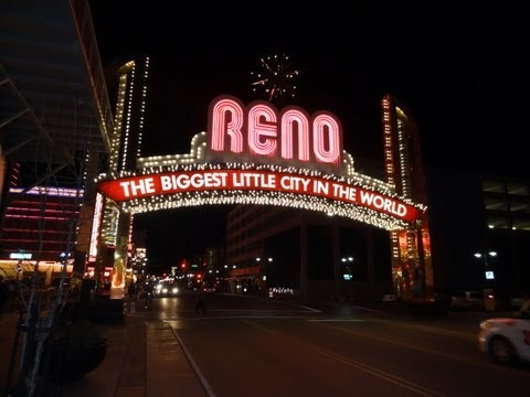 Reno Nevada The Arch Harrah's Casino Hotel Video Sammy Davis Jr Biggest Little City in The World