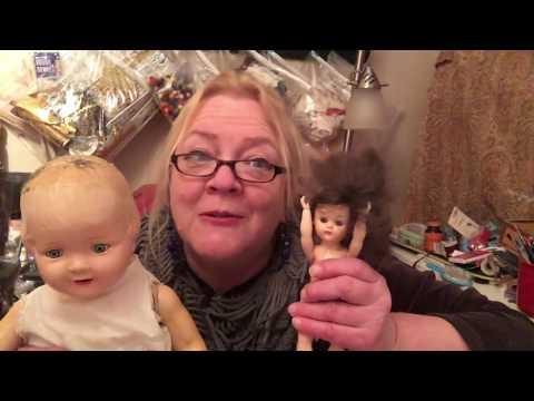 The Hazel Twigg Vintage Composition Doll WIG TRIALS