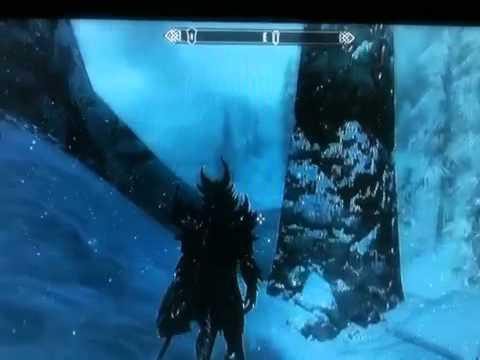 SKYRIM sound glitch/bug at a dragon wall
