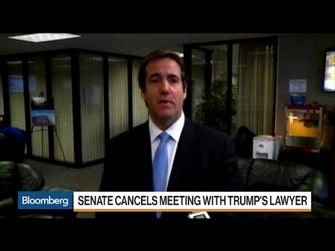 Senate Cancels Meeting With Trump's Lawyer Michael Cohen