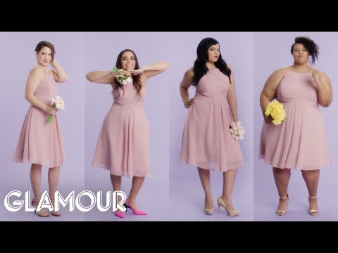 Women Sizes 0 Through 28 Try on the Same Bridesmaid Dress | Glamour
