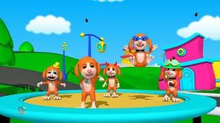 Năm chú chó nhỏ | nhac thieu nhi hay nhất | vần điệu ươm phổ biến | Baby Song | Five Little Puppies