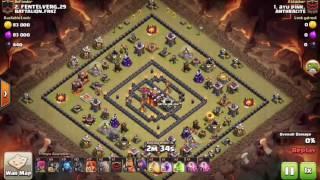 Clash of clans-TH 10 att -golem minion valkyrie-Ayhu pink #2