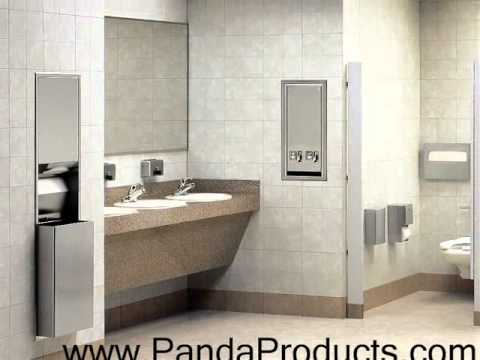 Bobrick Bathroom Partitions Property bobrick washroom accessories and toilet partitions  youtube