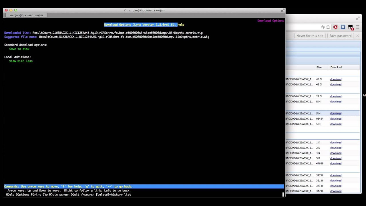 downloading a file using lynx on most unix/systems