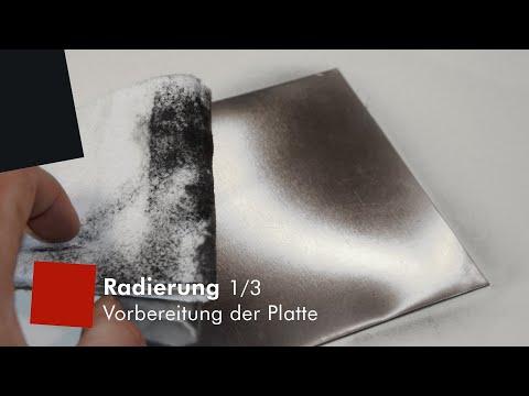 Kaltnadel-Radierung 1/3: Platte