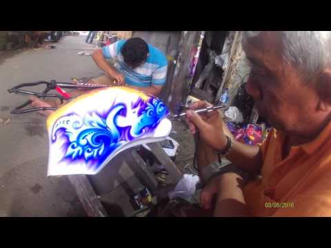 Mbah Wito RRI - air brush cat -  surakarta hadiningrat