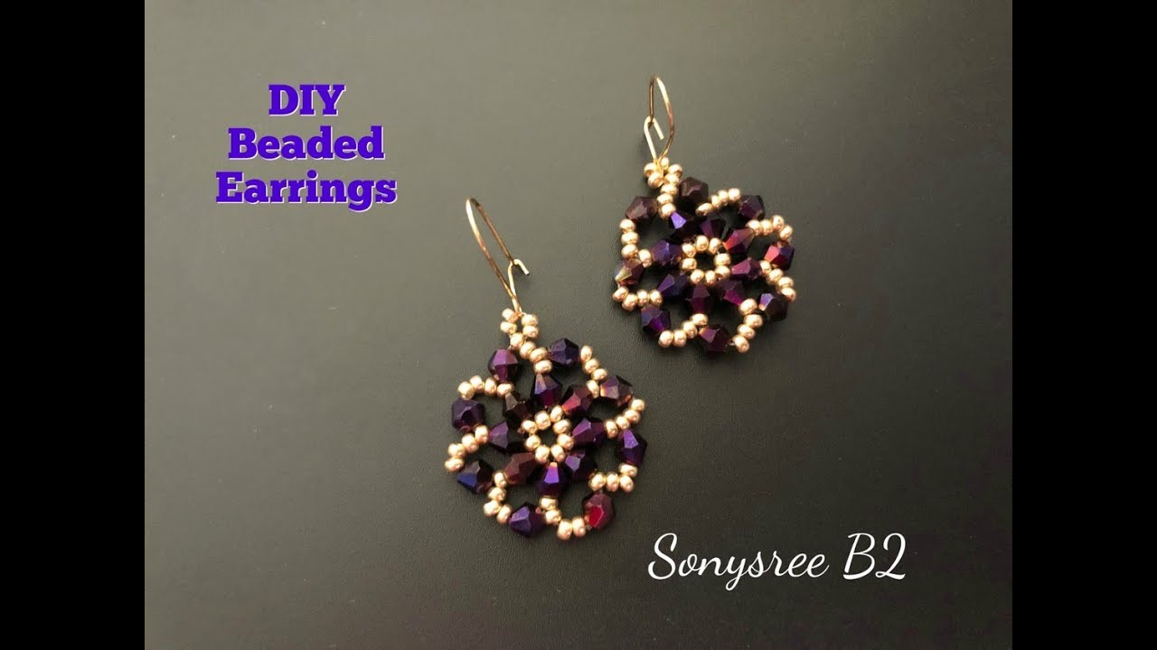 Diy Beaded Earrings Super Easy Tutorial