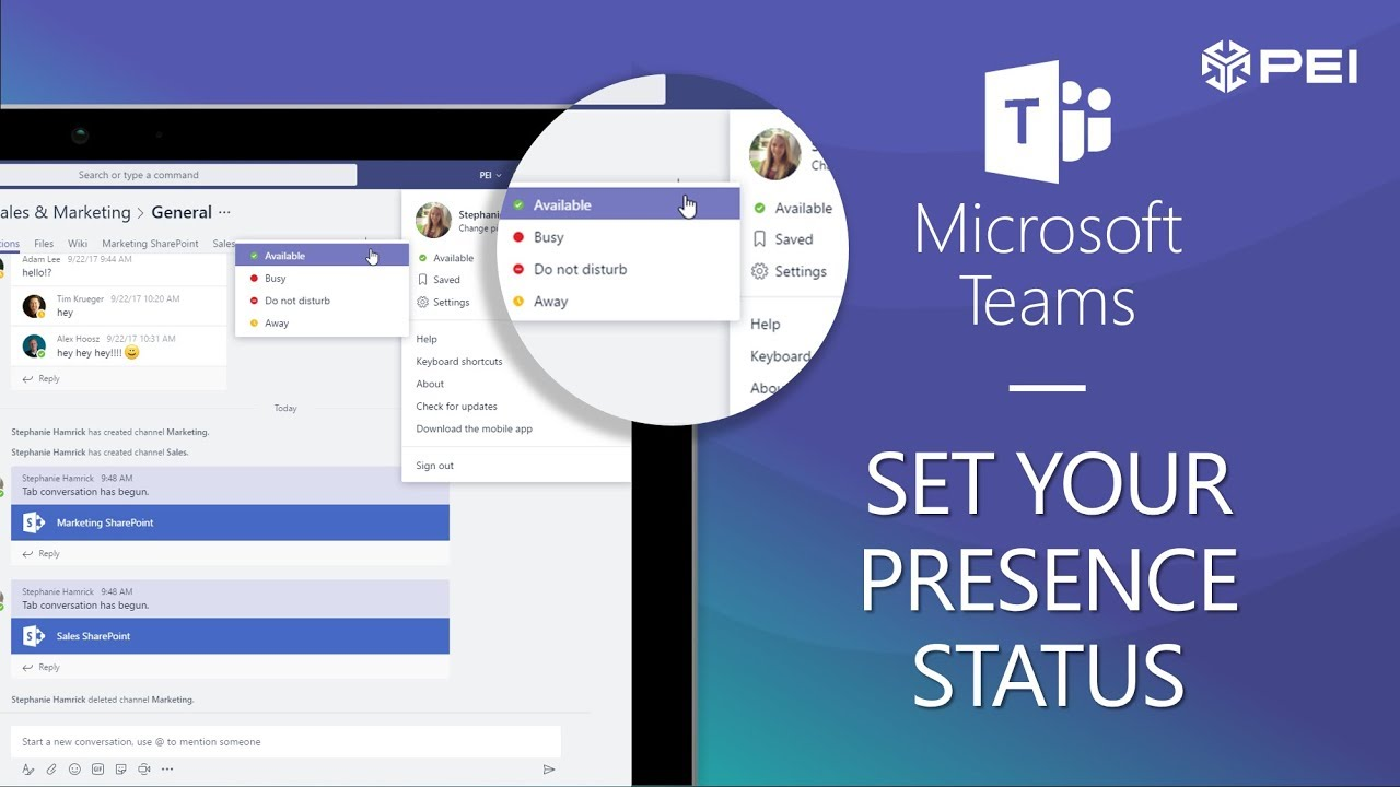 Microsoft Teams | PEI - How to Set Presence Status