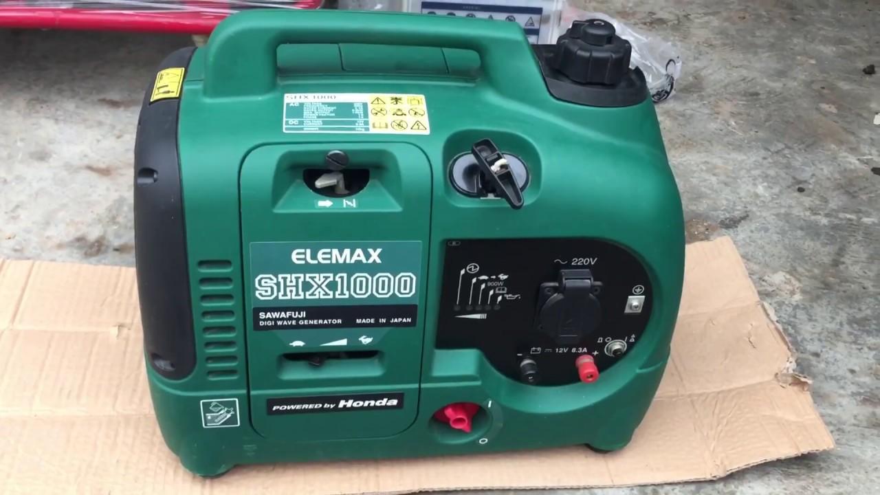 [ Máy Phát Điện ] Máy Phát Điện Nhật Cũ Elemax SHX1000 Như Mới 99.99%