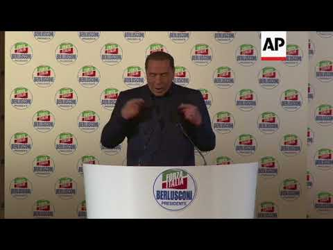 """Berlusconi promises less taxes and to repatriate 600,000 """"illegal"""" migrants"""